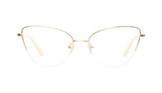 Airy Gold marble - A perfect colored metal, delicately outlining the top of your cat eye frames, sure to add an effortless twist to your look.