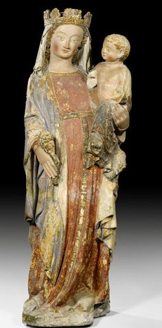Unknown artist, middle of 14th century, Madonna with child, Gothic, France | House of Beccaria~