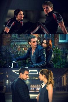 Divergent, The Mortal Instruments, The hunger games <3