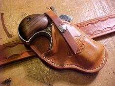 Cross Draw Holsters for Derringer | Item:4163011 CROSS-DRAW BELT HOLSTER AMERICAN DERRINGER For Sale at ...