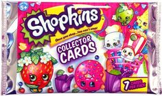 Bullsi toy Shopkins Season 1 & 2  Collector Trading Cards Single Pack ×24 - 7 Cards per pack (totaling 168)