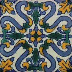Talavera Hand Painted Tile HA 12 | Mexican Art Tile