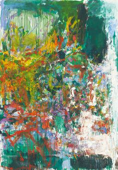 'Un jardin pour Audrey' (left panel of diptych) by Joan Mitchell, 1975