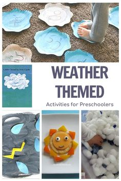A week of planned activities for preschoolers themed around weather and featuring the picture book Little Cloud by Eric Carle.