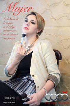 con Paula Silva maquilladora profesional.