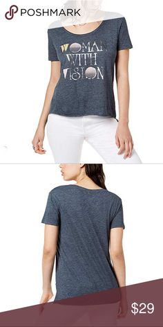C&C California Women's Roll Sleeve Tee w Side Tie Detail Optic White T Shirt XS (US 0 2)