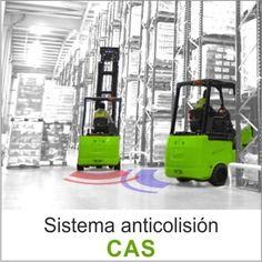 El sistema de anticolisión (CAS) es una solución que advierte a los conductores de las carretillas cuando detecta otras carretillas en distancias entre 3 a 25 metros.