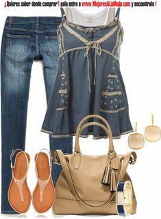 Combinaciones con azul y beige