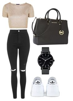 """""""Untitled #184"""" by maritzawaffles on Polyvore featuring Topshop, adidas, The Horse and Michael Kors"""