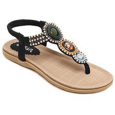 Casual Elastic and Beading Design Sandals For Women Trendy Handbags, Mens Fashion Shoes, Handbags Online, Cheap Shoes, Belts For Women, Vintage Shoes, Summer Shoes, Cute Shoes, Womens Flats
