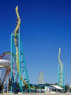 Cedar Point- wicked twister. I know this would make me sick yet I still want to ride this monster!