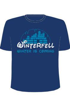 Planetacomic: Merchandising - Be Friki: Camisetas Game Of Thrones - CAMISETA AZUL OSCURO MANGA CORTA WINTERFELL (T-L)