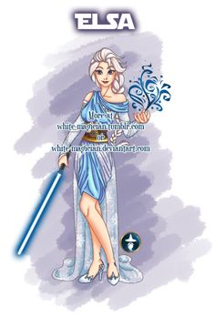 Jedi Disney Princess series - Elsa from Frozen -- by white-magician on DeviantArt Arte Disney, Disney Fan Art, Disney Love, Disney Magic, Disney Frozen, Hipster Disney, Disney Marvel, Disney Star Wars, Disney And Dreamworks