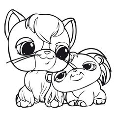 Desenhos para pintar Littlest pet shop 20