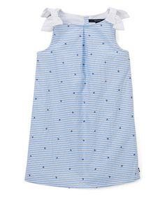 Another great find on #zulily! Sail White & Blue Seersucker Dress - Infant, Toddler & Girls #zulilyfinds