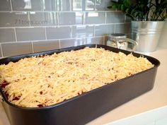 Red and White Pasta - a great pasta to make for a Football Team Pasta Feed! Can be made the night before.
