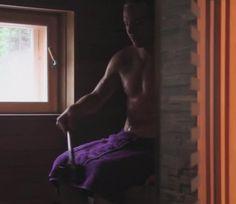 Sauli in the sauna
