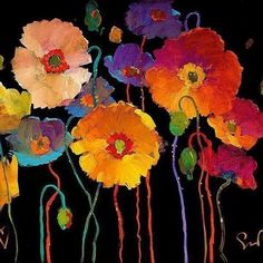 Buy online, view images and see past prices for SIMON BULL LIVING LIFE TO THE FULL Hand Signed Giclee on Canvas. Invaluable is the world's largest marketplace for art, antiques, and collectibles. Art Floral, Art Populaire, Illustrator, Painting Inspiration, Flower Art, Poppies, Art Projects, Contemporary Art, Watercolor