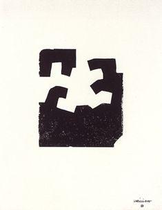 Chillida Eduardo : Lithographie originale : Idazki