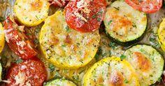 Roasted Garlic-Parmesan Zucchini, Squash and Tomatoes | Recipe | Zucchini Squash, Squashes and Zucchini