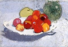 Still life with fruit, Helene Schjerfbeck , 1915