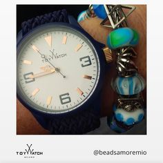 Does anyone love blue color? Thanks to Beads Amoremio for sharing her #TWlove. Use #ToyWacth for a chance to get featured! #TWlove #ToyWatch #watch #watches #style #fashion #accessories #forher #beads #blue #gold #fanlove