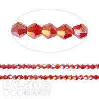 120 pce Faceted Clear AB Bicone Crystal Glass Beads 4mm x 3.5mm Jewellery Making
