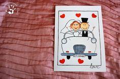 Ręcznie malowana kartka na ślub #kartka #love #miłość #card #wedding #gift #hearts #serce #młodapara #newlywedds #pomysły #inspiracje #ręczniemalowane #handpainted #handmade
