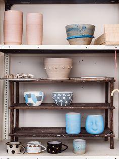 The North Melbourne ceramics studio of Chela Edmunds aka Takeawei.  Photo – Kate Ballis for thedesignfiles.net