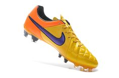 Originals Nike Tiempo Legend V FG Orange Yellow Purple  63.99. Best soccer  cleats 041fa252fdd97