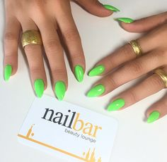 Beetlejuice costume nails - Stand out in the crowd with these amazing neon green stiletto nails!