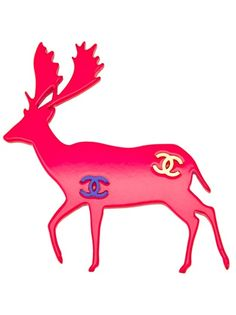 Jewelry: CHANEL VINTAGE Stag Brooch