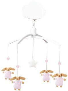 Trousselier mobile & musical mobile for baby bunny angels
