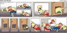 Aww, Rover! | Read Red and Rover #comics @ http://www.gocomics.com/redandrover/2015/05/17?utm_source=pinterest&utm_medium=socialmarketing&utm_campaign=social-pin | #GoComics #webcomic #dog #mansbestfriend