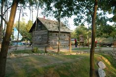 Canadian Buildings & Exhibit at museum in Szymbark, Poland. This is the Chippior/Szczypior building from Wilno, Ontario, Canada.The story of  the Kaszub emigrants to Canada's Ottawa Valley in 1858 is showcased at the museum in Szymbark [Centrum Edukaji Promocji Regionu Szymbark].
