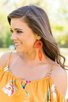 """Mariposa Earrings, Orange"""