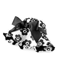 Black & White Floral Reversible Hat! So sweet!