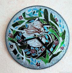 Купить Часы с растительным орнаментом в интернет магазине на Ярмарке Мастеров