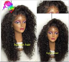 Brazilian soft curly full/front lace wig Human Hair baby hair bleached knots #Unbranded #FullWig