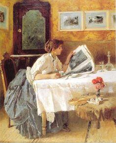 """The Reader"", by Francesco Netti (Italian, 1832-1894)"