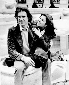 """""""Harrison Ford and Carrie Fisher promoting Star Wars in NYC. Han Solo Leia, Han And Leia, Star Wars Cast, Star Trek, Luke And Leia Kiss, Harison Ford, Carrie Fisher Harrison Ford, Frances Fisher, Star Wars Celebration"""