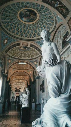 Hermitage Museum Saint Petersburg Russia - Wallpaper World Baroque Architecture, Beautiful Architecture, Museum Architecture, Landscape Architecture, Sculpture Art, Sculptures, Hermitage Museum, Photocollage, Renaissance Art