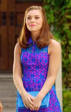 Seen on Celebrity Style Guide: Hart of Dixie Fashion: Annabeth Nass as Kaitlyn Black, wore a Lilly Pulitzer Pemberton Dress and Tory Burch Robinson Envelope Clutch on Hart of Dixie epi 3.04 �Help Me Make It Through The Night�