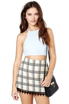 After Party Vintage Bianca Crop Top