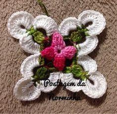 Tunisian Crochet, Crochet Granny, Crochet Motif, Crochet Doilies, Crochet Lace, Crochet Stitches, Crochet Blocks, Crochet Squares, Crochet Flower Patterns