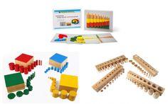 Sparset Einsatzzylinderblöcke, Farbige Zylinder und Arbeitskartei Montessori Material Sparpakete