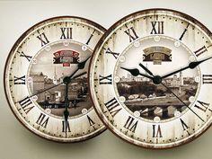 Купить часы настенные Ваш Город - часы, часы настенные, Часы настенные декупаж