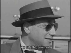 """Jean-Pierre Melville's cameo in Breathless. """"What is your greatest ambition in life?"""" """"To become immortal...and then die."""""""