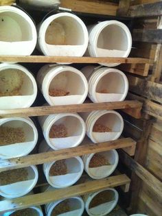 Chicken House Nest Boxes from 5 Gallon Buckets --one of these days when we can move back to the country!!!
