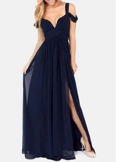 Slit Design Ankle Length Dress